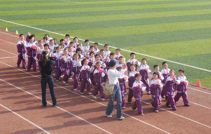 一年级(-汉中市龙岗学校 首届运动会开幕式纪实