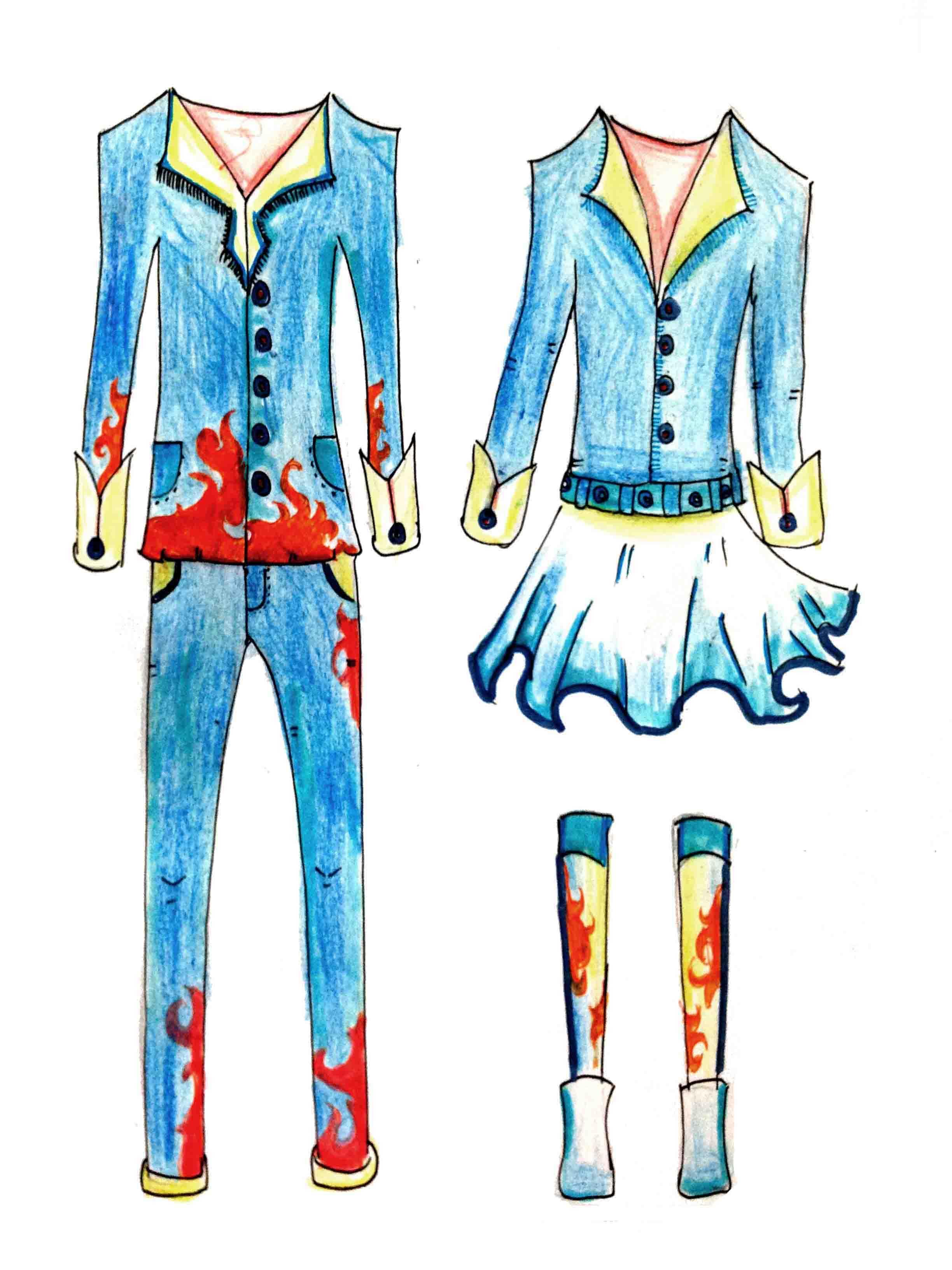 美术课堂上的校服设计大赛